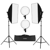 Kit per la luce LED Softbox Studio Andoer