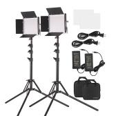 Andoer 2パックLEDビデオライトと78.7インチスタンド照明キット