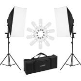Kit d'éclairage professionnel Andoer pour photographie en studio