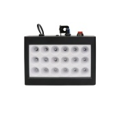 18 LEDs 9 Colors Room Strobe Light Box Disco Light Sound Auto Control Stage Family Party Light Black