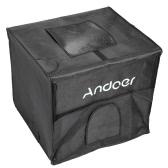 Andoer 40 * 35 * 35cm pieghevole fotografia Studio luce LED tenda Kit Softbox con 2 pannelli luminosi 3 colore fondali alimentatore borsa per il trasporto