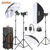 Godox DE300-D 3 * 300WS Photo Studio Strobe Flash Light Kit z Light podstawy / Shade Softbox / Reflektor Parasol / Miękka Parasol / wyzwalacz / Lampa