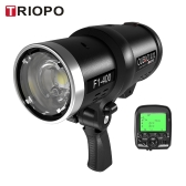 Triopo Oubao F1-400 400W 1 / 8000s haute vitesse de synchronisation du flash extérieur Strobe Light 2.4G sans fil Q Dual System TTL (i-TTL et e-TTL) 5600K pour Canon appareils photo Nikon avec 2.4G sans fil Trigger et rechargeable Li-ion rechargeable avec Bowens Monter