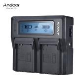 Andoer ENEL14 Chargeur de batterie de caméra LCD double canal pour Nikon D5600 D5500 D5200 D5200 D5100 D3100 D3200 D3300 D3400