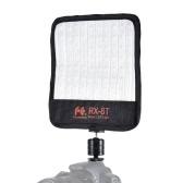 FalconEyes RX-8T 16W Mini LED Light Dimmable 5600K CRI94 Tissu flexible en caméra Lampe Daylight Splashproof pour studio vidéo Photographie