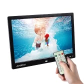 "Andoer 13"" LED Digital Photo Frame Screen Desktop Album Display Image 1080P MP4 Video MP3 Audio TXT eBook Clock  Calendar 1280 * 800 HD Resolution with Infrared Remote Control/ 7 Touch Key Support Auto Play/ 14 Language/  Stand"
