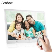 Andoer 15 Inch Large Screen LED Digital Photo Frame Desktop Album 1280 * 800 HD Music/ Video/ eBook/ Clock/ Calendar Functions with Motion Detection Sensor Touch Keys Support   Remote Control