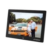 Andoer Cadre photo numérique de 10 pouces IPS Écran plein écran Eletronic Album photo haute résolution 1280 * 800 (16:10) Calendrier de l