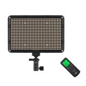 Viltrox VL-D640T Lumière vidéo LED 3300K-5600K CRI 95+ ultra-mince et bicolore à intensité variable avec télécommande pour télécommande Portrait pour mariage