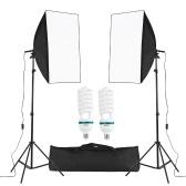 Professional Studio Photography Cube Umbrella Softbox Light Kit