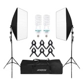 Andoer-2 Photography Studio Cube Umbrella Softbox Light Kit di illuminazione per tende