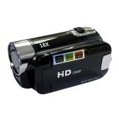 Câmera digital gravador de vídeo 16X F-ocus Zoom Design 2.7 polegadas Tela TFT compatível com cartão SD alimentado por bateria para estúdio de vídeo