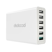 Dodocool 58w 6 portas estação de carregamento USB com Qualcomm Quick Charge 3.0 Port e 5 portas USB