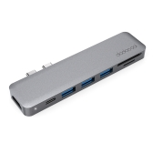 Dodocool Alloy Alloy 7-in-1 Multiport Hub para MacBook Pro 13,3 polegadas / MacBook Pro 15,4 polegadas
