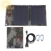 12W 12V Monokristallines faltbares Solarpanel mit zwei USB-Ausgängen Multi-Multi-Ladekabel-Adapter Typ C / Micro-USB-Anschluss Kompatibel mit Mobiltelefonen Tablets und mehr