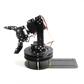 Brazo robótico 5DOF Kit de brazo mecánico DIY con base giratoria de 360 grados Compatible con Arduino para adultos Estudiantes de STEM