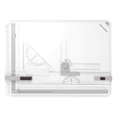 A3 Picture Drawing Board Cartographic Platform with Smooth Guide Rails Precise Marks Ruler Functional Design Auxiliary Tool
