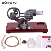 KKmoon Hot Air Stirling Engine Motor Retro Style Dollar Flywheel Design Electricity Power Generator with Colorful LED Light Creative Gift