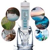 4 in 1 PH/EC/TDS/Temp Meter Water Quality Test Meter High Accuracy Measurement Range LCD Display Measure Tool for Drinking Water Aquarium