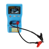 2 in 1 Digital Auto-ranging 0-470Ω Capacitor ESR Meter 0μF-470mF Capacitance Tester Internal Resistance Measurement with SMD Test Clips