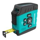MiLESEEY DT20 3-in-1 Digital Laser Measure Tape Power Tape Laser Distance Meter 131ft Laser Measurer with 16ft Tape Measurer 2.0-inch LCD Display Distance Measure Gauge Laser Range Finder