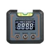 Inclinómetro de buscador de ángulo de indicador de nivel digital de mini caja de nivel de 2,7 pulgadas con burbuja de nivelación y base magnética de ranura en V