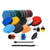 Набор щеток для электрической дрели 31PCS включает чистую ткань, губку для чистящих подушек, щетку для чистки