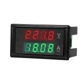 AC 80-300V 100A Цифровой вольтметр Амперметр Измеритель силы тока Манометр Зеленый Красный светодиодный усилитель Двойной дисплей Панель переменного тока Измеритель тока с трансформатором тока