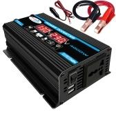 4000W Intelligent Digital Car Inverter 2 USB Output Ports Modified Sine-wave Converter with LED Display
