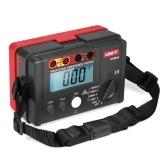 UNI-T UT501A 1000V Medidor de resistencia de aislamiento Probador de tierra Megóhmetro Voltímetro con retroiluminación LCD