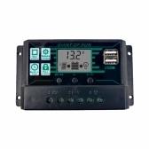 MPPTPWMソーラーコントローラーソーラーパネルバッテリーレギュレーターデュアルUSBLCDディスプレイソーラーコントローラー