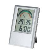 °C/°F Digital Thermometer Hygrometer Temperature Humidity Meter Alarm Clock Max Min Value Comfort Level Display