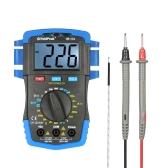 HoldPeak Rétroéclairage Afficheur LCD Multimètre numérique DC / AC Tension Courantomètre Température de résistance Test de batterie Diode Continuité