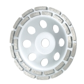 "150mm 6"" Diamond 2 Row Segment Grinding Wheel Disc Bowl Shape Grinder Cup 20mm Inner Hole for Concrete Granite Masonry Stone Ceramics Terrazzo Marble Building Industry"