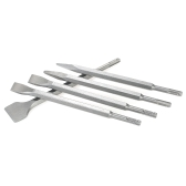 5PCS SDS Plus Set de cinceles Brocas de martillo Gubia Cinceles de mango redondo 250 mm