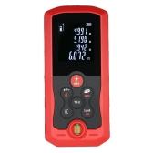 40m Mini Hand-held LCD Digital Laser Distance Meter Range Finder Distance Area Volume Measurement 10 Groups Data Storage