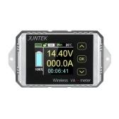 JUNTEK DC 0.01-100V 0.01-100A Multifuncional Inalámbrico Digital Bidireccional Voltaje Actual Medidor de Potencia Amperímetro Voltímetro Capacidad Contador de Coulomb