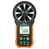 PEAKMETER Handheld Anemometer Portable Wind Speed Meter CFM Meter Wind Gauges Air Flow Thermometer with LCD Backlight for Weather Data Collection Outdoors Sailing Surfing Fishing