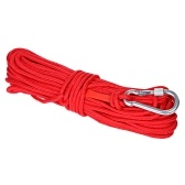 20m Multi-function Nylon Rope & Carabiner Diameter 6mm Safe and Durable High Strength Safety Rope Outdoor Activities Tools