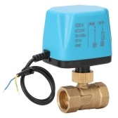 AC 220 V Waterproof 2 Way 2-Wire Ball Electric Motorized Brass Valve with Actuator