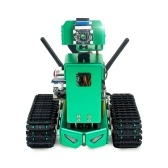 Tank Smart AI Robot Kit Liftable WiFi Wireless Video Programming Electronic DIY Robot Kit with Autopilot Object Tracking Face and Color Recognition for NVIDIA Jetson Nano A02 Not Include