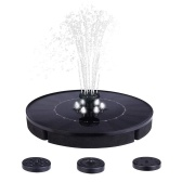 2.5W Solar Water Pump Fountain Floating Outdoor Pool Circular Fountains Solar Energy Rechargeable Garden Courtyard Fish Pond Waterpump Geyser with 6 LED Lights