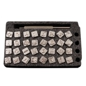 32Pcs Animals Pattern Steel Punch Stamps Set