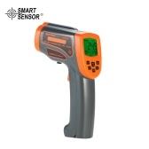 Termómetro infrarrojo Termómetro láser digital Pistola de temperatura -18 ~ 1650 ℃ con emisor ajustable Pantalla LCD Pirómetro con almacenamiento de datos de luz de fondo ℃ / ℉