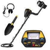 Underground Metal Detector Metal Finder Gold Detector Treasure Hunter Tracker Seeker Metal Circuit Detector with 3 Modes with Earphone & Shovel