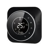 95-240V programmierbarer Thermostat 5 + 1 + 1 Sechs-Perioden-Touchscreen-LCD mit Temperaturregler für Heizungs-Thermoregulator mit Hintergrundbeleuchtung