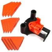 Деревообработка Угловой зажим Инструмент для фиксации Угловой зажим для фоторамки Приспособление для установки бытовых инструментов 60 ° 90 ° 120 ° Многоугольный инструмент для толщины зажима 5 ~ 22 мм