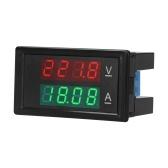 Digital Voltmeter Ammeter Voltage Current Tester Gauge Volt Amperage Tester Meter Amp Detector Red Green Dual Display Digital Multimeter