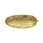 KKmoon Placa de hoja Bandeja de plumas realista Decoración de mesa Anillo de joyería de cerámica Soporte de plato de baratija Bandeja de servir decorativa para aperitivos de frutas Joyería de postre