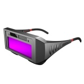 Auto Darkening Welding Glasses Solar Power Welding Safety Protective Glasses Welder Eye Protection Glasses Anti-Glare Anti-Fog with Elastic Band for TIG MIG MMA